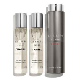 Allure Homme Sport Eau Extreme woda toaletowa spray 20ml + 2x20ml refill